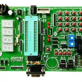 AVR Development Board With-RTC-EEPROM-Relay-7-Segment- 40Pin ZIF