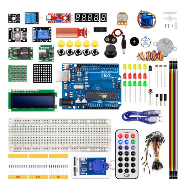 Arduino Upgraded Learning kit With RFID & Stepper Driver