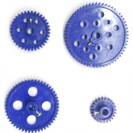 Plastic Gear Set 4 Pcs