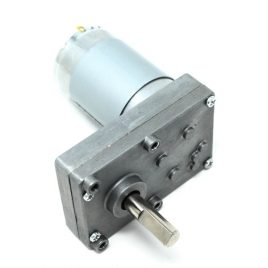 Square Geared DC Motor with 8mm shaft