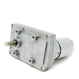 Square Geared DC Motor with 8mm shaft new