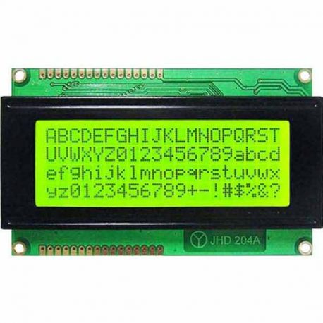 20*4 LCD Display Module Green