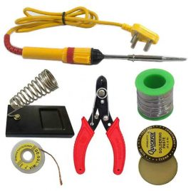 Soldering Basic Tool Kit 6 in 1 solder iron-cutter soder stand-solder wire