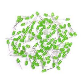 Green LED 5MM High Bright-100Pcs