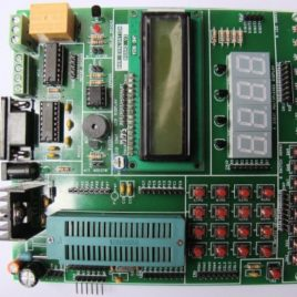 AVR Development Board with 16 x 2 LCD and Relay Module