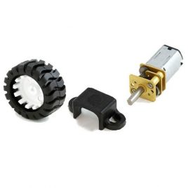 Micro Metal DC Motor Kit (Motor +Wheel +Clamp)