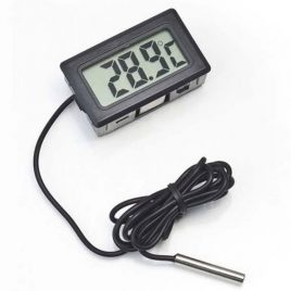 Compact 1.5″ LCD Digital Thermometer With External Remote Sensor