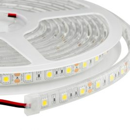 Waterproof Cool White LED Light Strips - 12Volt- 60LEDs/m-300LEDs Per Roll