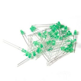 3MM LED-Green-diffused-high-bright-100Pcs