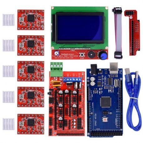 3D Printer Kit RAMPS 1.4+ Mega 2560 + 5* A4988 LCD 128*64