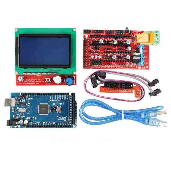 Arduino 3D Printer Controller Kit – Mega 2560 Board+128*64 LCD+RAMP1 4