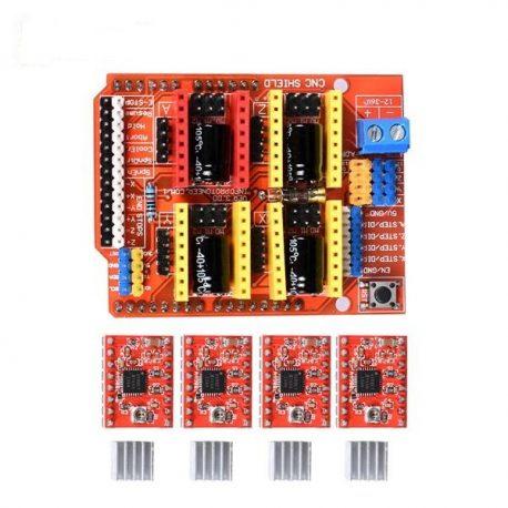 CNC Shield V3 + A4988 Stepper Driver for RAMPS 1.4 Reprap 3D Printer