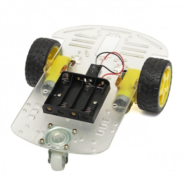 2WD Smart Robot Car Chassis kit With Battery Box & Speed Encoder