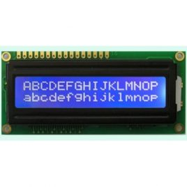 16x2 Character Blue Backlight LCD Display