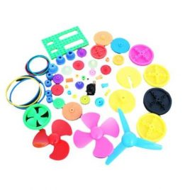 55 Assorted Plastic Gears DIY Pulley For Robot DIY Car Toys