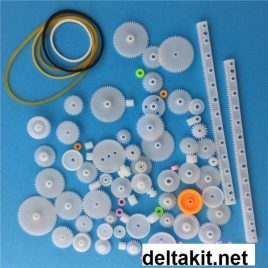 75 pcs K014Y Plastic Gear Set DIY Belt Pulley Worm Belt Single Double Gears All Module