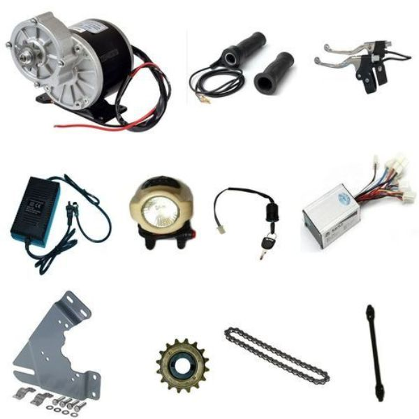 MY1016 250W eBike Motor With Electric Bicycle Combo Kit