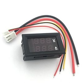 Digital Voltmeter & Ammeter DC 0-100V 10A Panel Mount