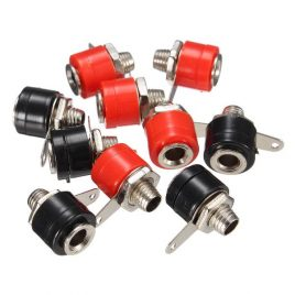 c4mm Banana Socket Plug Terminal Connector 5Pcs Black and 5Pcs Red