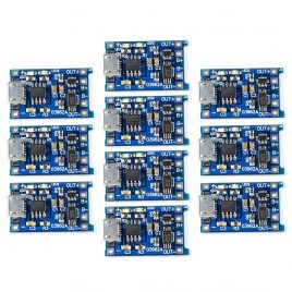 LIPO Battery Charger Module With Protection Circuit TP4056-1A - 10Pcs Pack