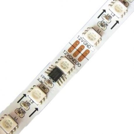 12V-5Meter Addressable RGB Led Strip Tape 60LED M Ws2811IC