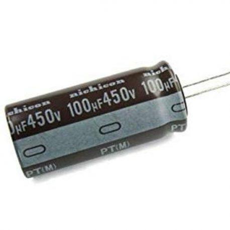 1 PCs Nichicon PT 100uF 450v 105c Radial Electrolytic Capacitor