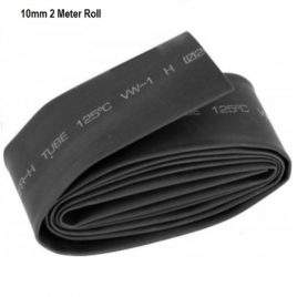 Heat Shrink Sleeve 10mm Black 2meter Industrial Grade WOER (HST)