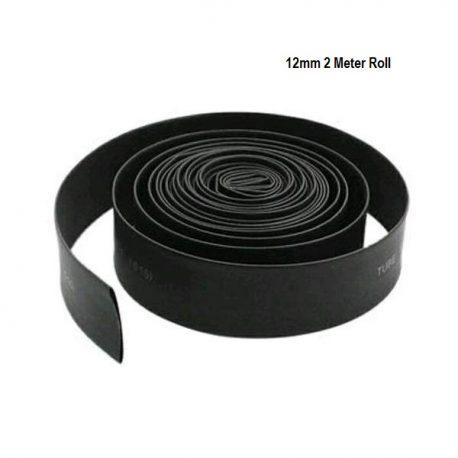 Heat Shrink Sleeve 12mm Black 2meter Industrial Grade WOER (HST)