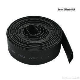 Heat Shrink Sleeve 8mm Black 2meter Industrial Grade WOER (HST)