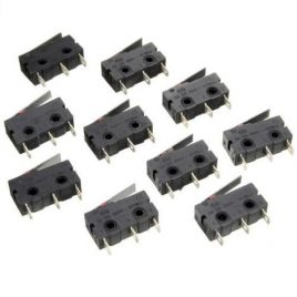 Micro Limit Switch Lever Arm C+NO+NC Sub Miniature - 10 Pcs