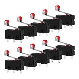 Micro Limit Switch With Roller Lever Open Close Switch 5A 125V-10 Pcs