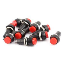 Red On-off Latching Round Push Button Switch 12mm SPST-10Pcs
