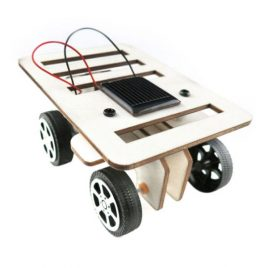 Solar Powered DIY Mini Wooden Car Model Kit
