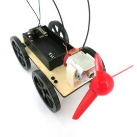 Wind Powered DIY Mini Wooden Car Model Kit