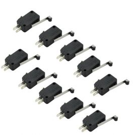 Micro Roller Lever Arm Normally Open Close Limit Switch - 10 PCs