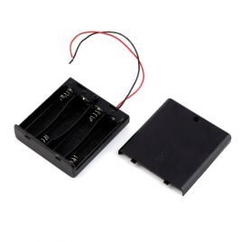 4 x 1.5V AA Battery Holder With Cover And On/Off Switch