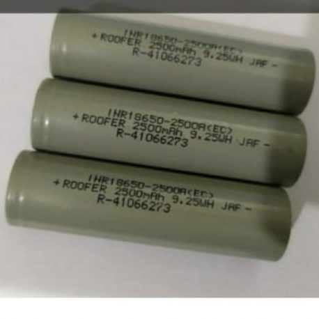 Roofer Lithium-Ion Battery Cell 18650 3.7V 2500mAh -3C