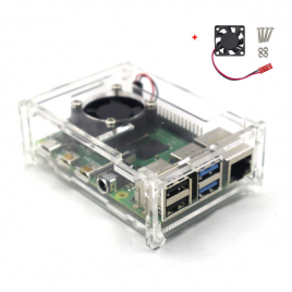 Acrylic Case For Raspberry PI 3 Model B With Cooling Fan