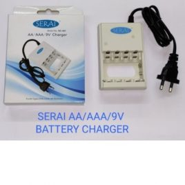 Serai Battery Charger For AA/AAA/9 Volts Rechargeable Battery