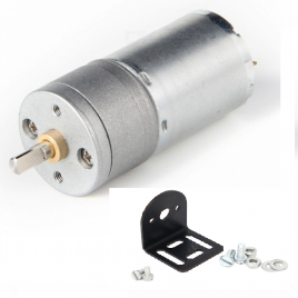25GA-370 12V/130 RPM DC Gear Motor With Clamp