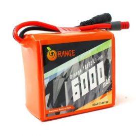 Orange 18650 Li-ion 6000mAh 7.4v 2S1P Protected Battery Pack-3c