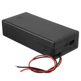 18650 Battery Box With Cover 7.4V Battery Holder With Switch