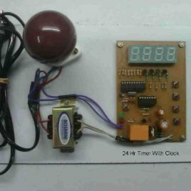 24 Hour Timer With Clock