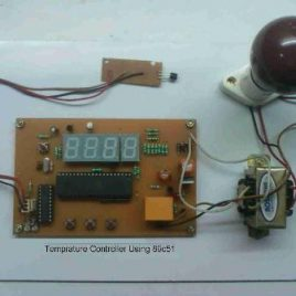 Temperature Controller Project using microcontroller