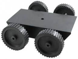 Robotic platform 4 wheel with 4 gear motors